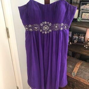 Purple cocktail/ prom style dress